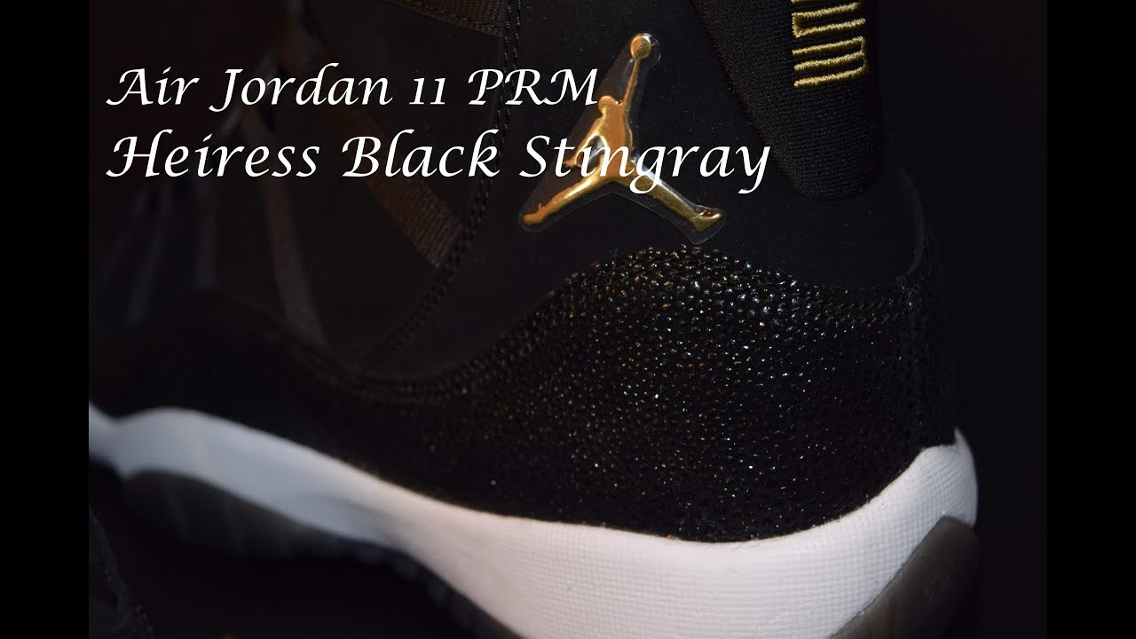 Air Jordan 11 Heiress Black PRM Detailed Look  74928058c