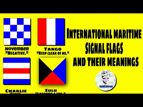 International Maritime Signal Flags And Their Meaning | Nautical Alphabet Flags | Maritime Flags