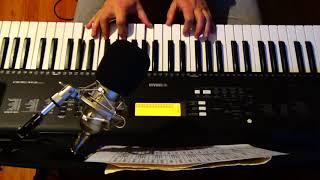 """Синтезатор Yamaha PSR-EW300 . Регтайм """"Артист эстрады"""", Джоплин, Играет ученик"""