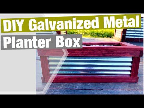 DIY Galvanized Metal Planter Box