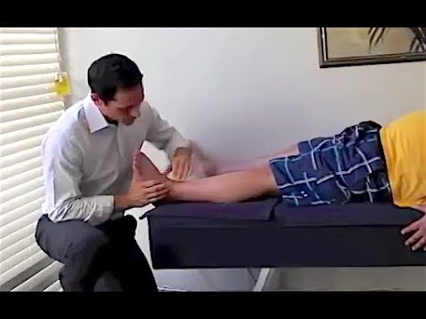 Dr. Ian - Adjustment on Painful SWOLLEN and SPRAINED ankle - FIXED by Gonstead Chiropractic