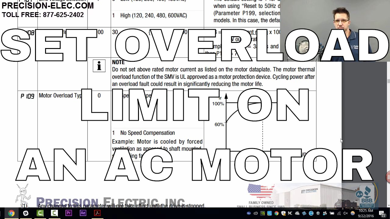 How To Calculate And Set Motor Overload In The SMV Variable Frequency Drive  VFD