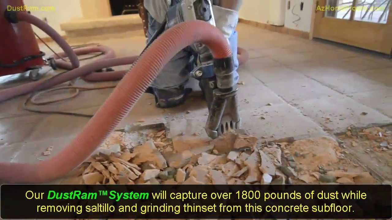 clean tile removal in arizona removing saltillo floor tile with dustram system