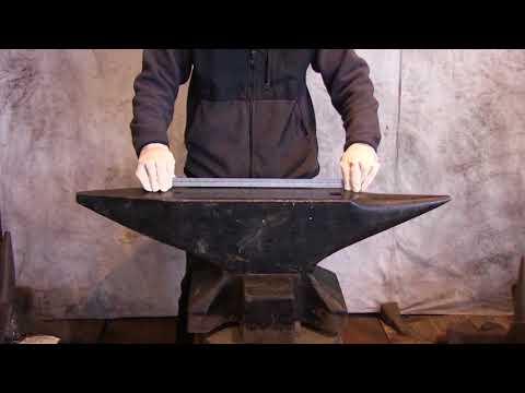 Refflinghaus 512 lb cast steel South German anvil for sale - YouTube