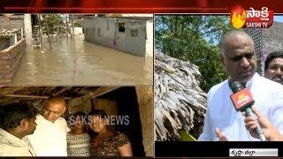 YSRCP Leader PVP Visit Flood Affected Areas in Krishna Dist | ముంపు ప్రాంతాన్ని పరీశీలించిన పీవీపీ