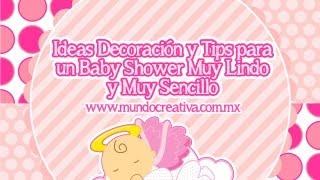 Organizar y Decorar un Baby Shower