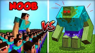 NOOB ARMÁDA vs. ZOMBIE MUTANT BOSS!