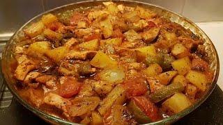وجبة غداء سريعه صدور دجاج مشويه مع الخضروات اكلات صحيه