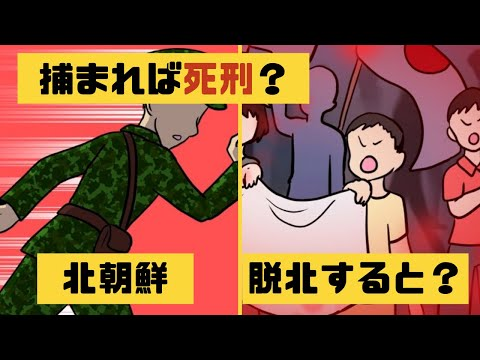 【北朝鮮】北朝鮮から脱北するとどうなるのか?【漫画】【マンガ動画】