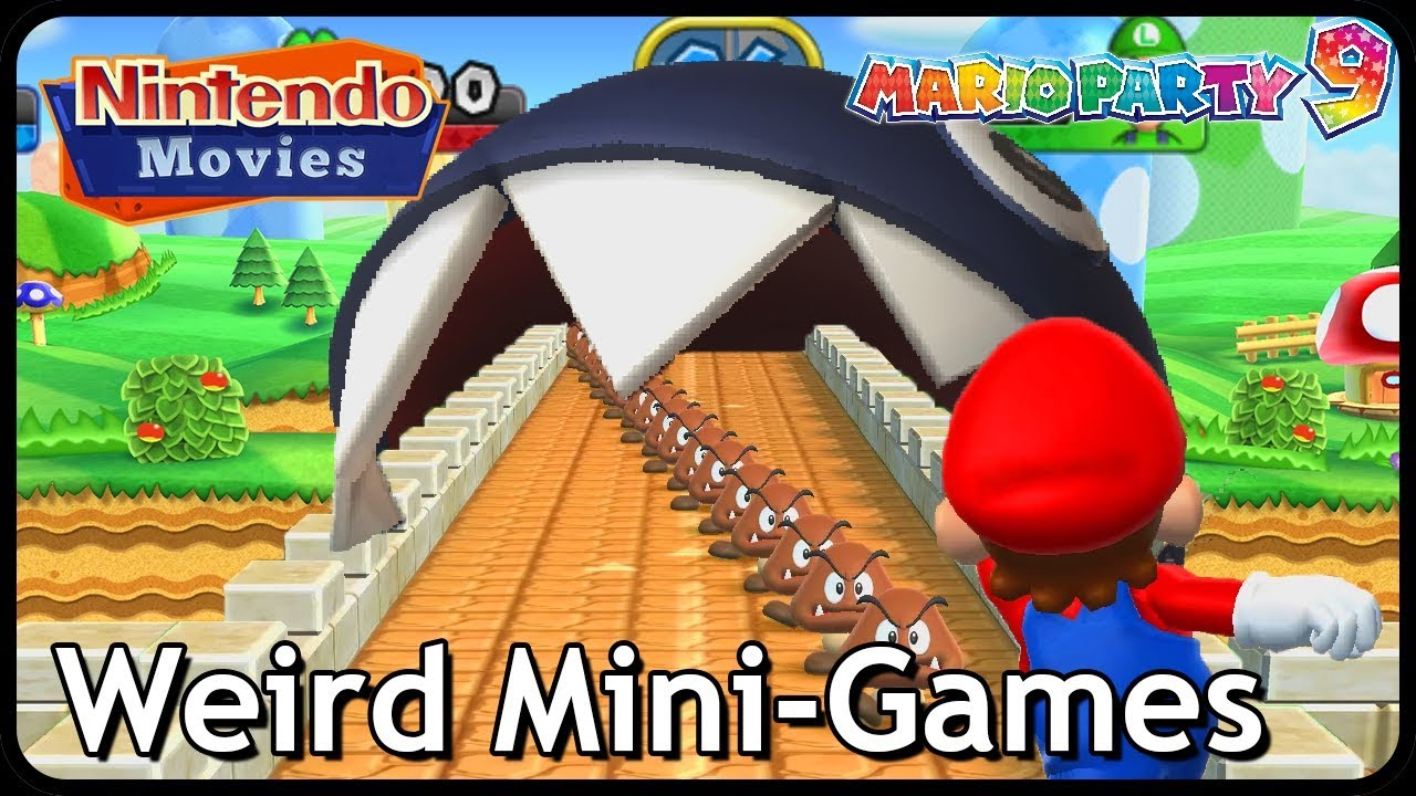 Mario Party 9 - All Weird Mini-Games (2 Players)