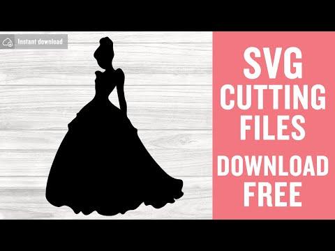 Princess Cinderella SVG  Disney princess Cinderella silhouette clipart  Disney shirt SVG Instant download design for cricut or silhouette