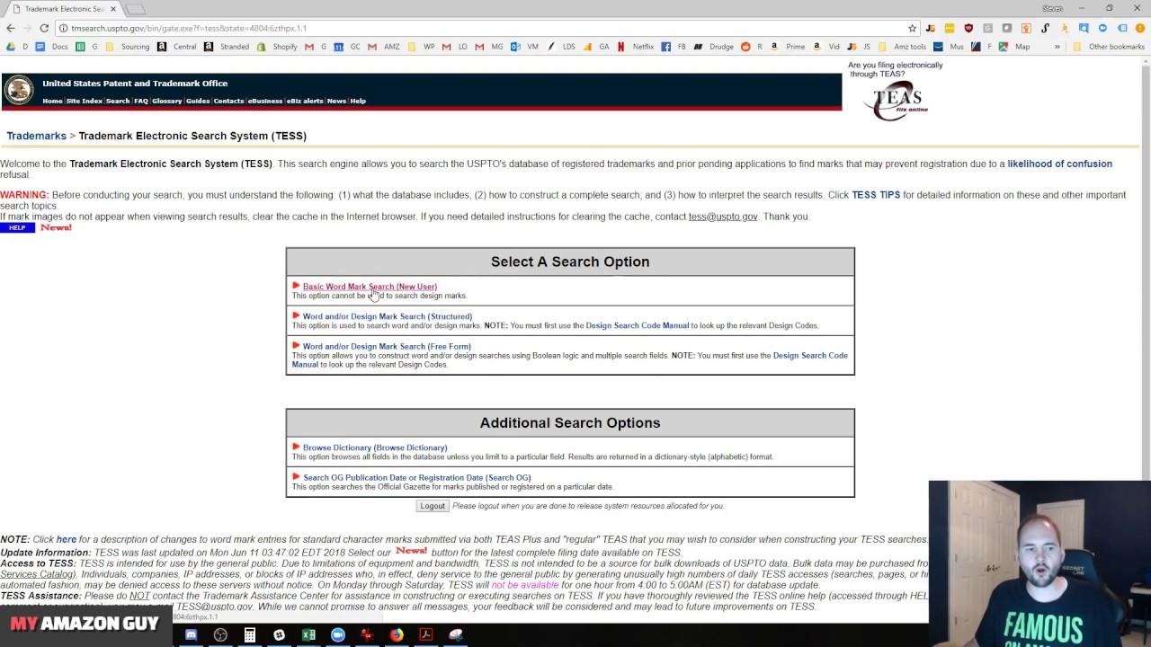 search amazon brand registry