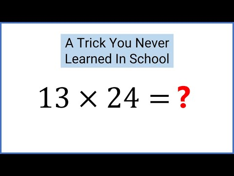 Amazing Math Trick Schools Don't Teach - Egyptians/Russian Peasant Method