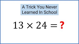Amazing Math Trick Schools Don't Teach - Egyptians/Russian Peasant Method