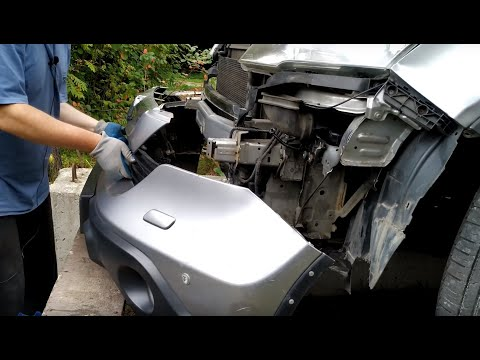 Хонда СРВ 3   Как снять передний бампер   Чемпион Берлина