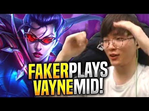 FAKER BREAKS META WITH VAYNE MID! - SKT T1 Faker Plays Vayne vs Renekton Mid!   S9 KR SoloQ