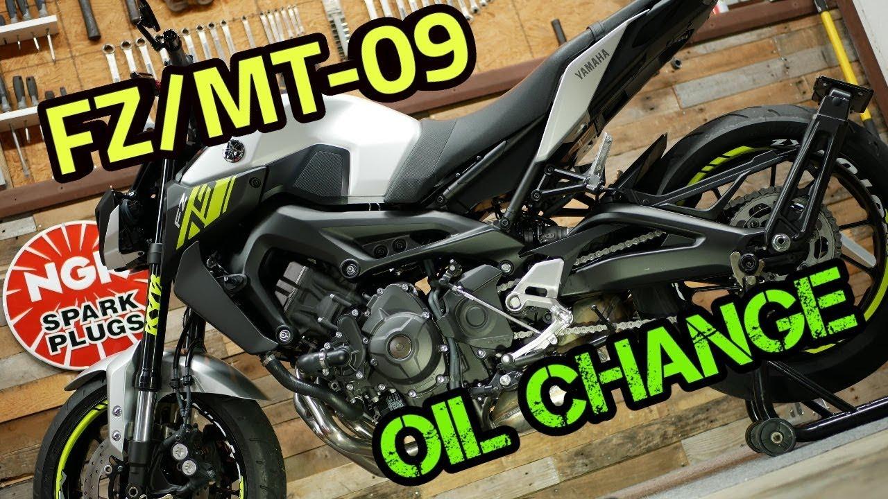 Yamaha Fz 09 Mt 09 Oil Change 2014 2019