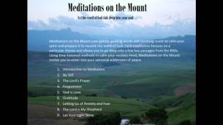 Letting Go of Anxiety and Fear - Christian Meditation - Meditations on the Mount