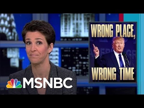 Provocateur Donald Trump Speaks At Hate Crime Site | Rachel Maddow | MSNBC