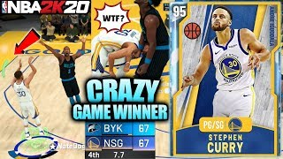 DIAMOND STEPH CURRY IS A GREEN MACHINE AND CRAZY GAME WINNER IN NBA 2K20 MYTEAM GAMEPLAY