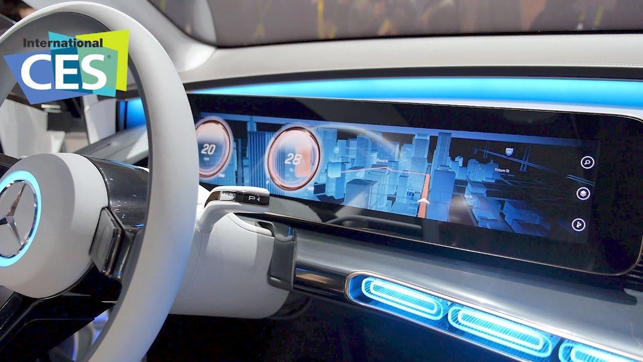 mercedes eq computer bild stellt das auto der zukunft vor youtube