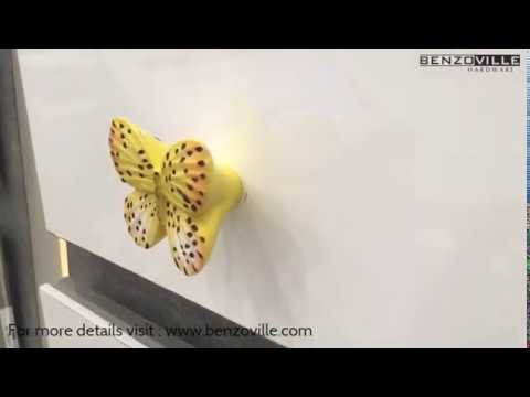 Benzoville Butterfly Cabinet Knob 40mm Multicolour From Siro