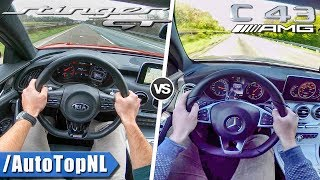 C43 AMG vs Kia Stinger GT | ACCELERATION TOP SPEED & AUTOBAHN POV by AutoTopNL