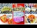 Testing BuzzFeed Recipes: DIY Healthy Breakfast + Snacks!