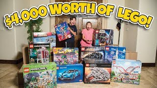 $4,000 WORTH OF LEGOS!!! World