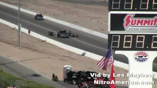 2011 NHRA Big O Tires Nationals Joe DeSantis Crash