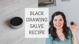 Black Drawing Salve Recipe | HOW TO MAKE TALLOW DRAWING SALVE | Bumblebee Apothecary