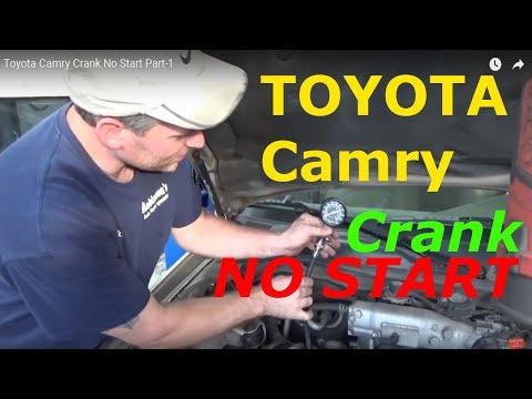 Toyota Camry Crank No Start Part-1 - YouTube