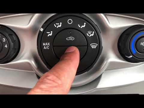 FORD FIESTA- Heating and cooling system controls – how to operate
