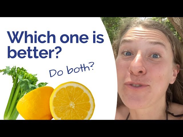 Celery Juice Lemon Water - Which one is better? Should you do both? Here's how to do it right!