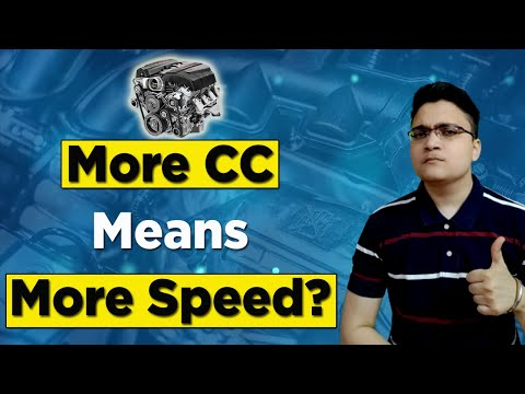 What is CC of an Engine? | More CC means more speed? | Hindi