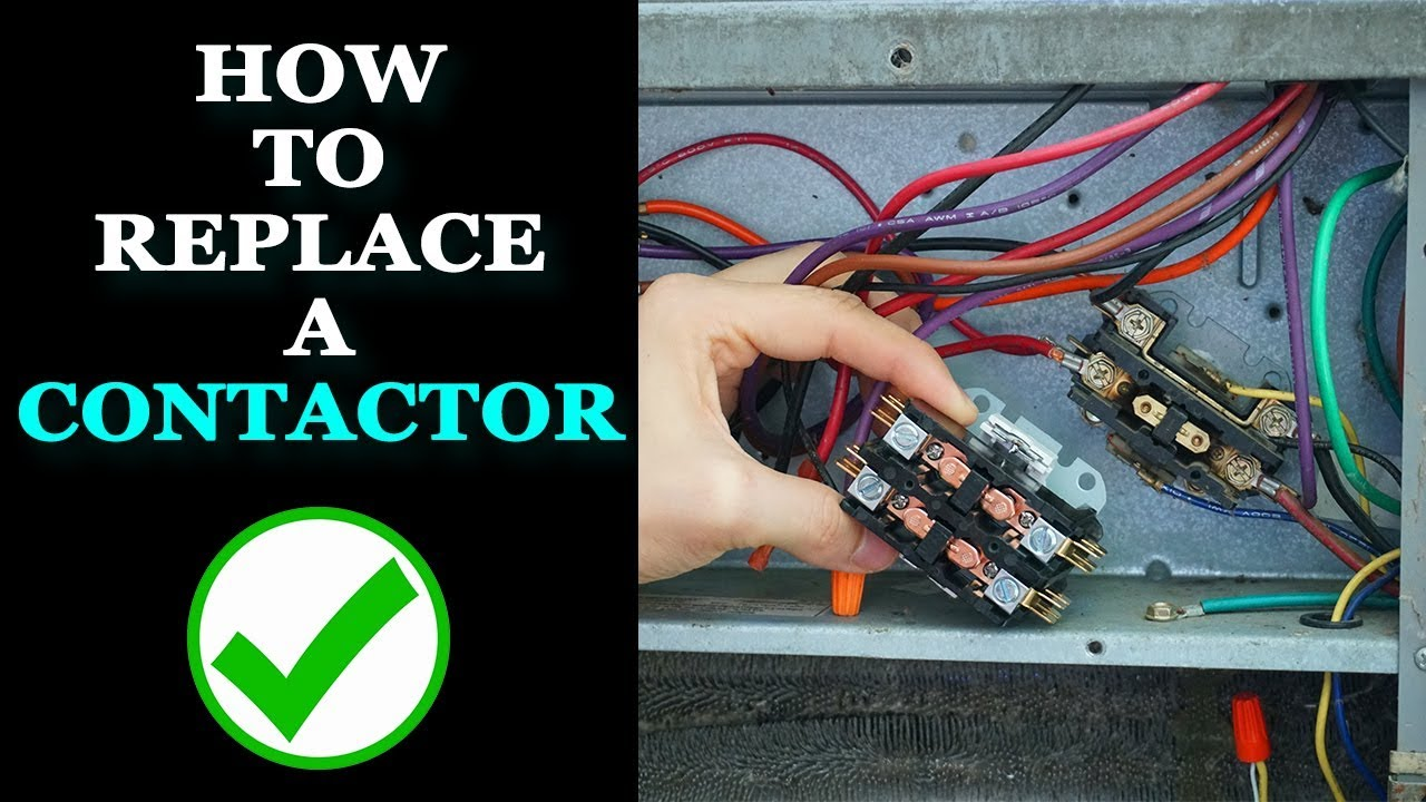 2 pole contactor wiring diagram hvac how to replace a contactor youtube  how to replace a contactor youtube