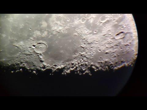 Moon In Telescop 336X Online Луна 4.04.2020
