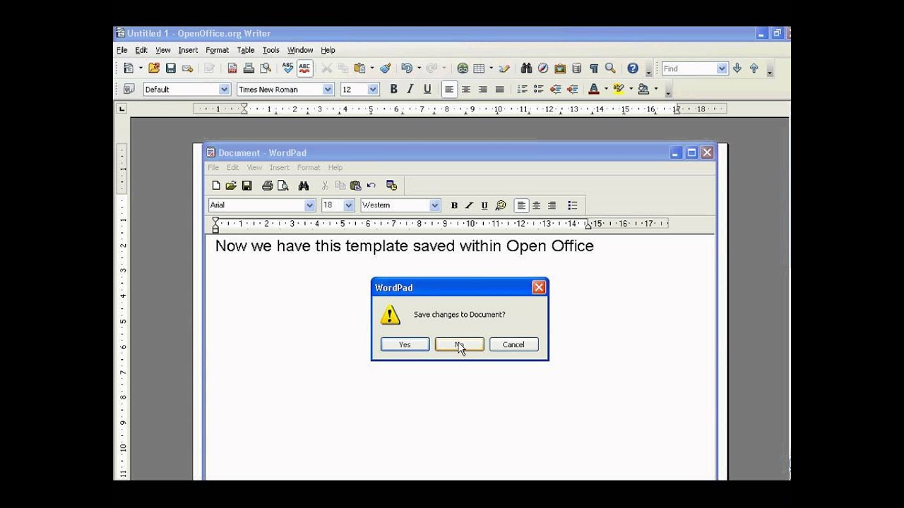 open office how to create templates youtube