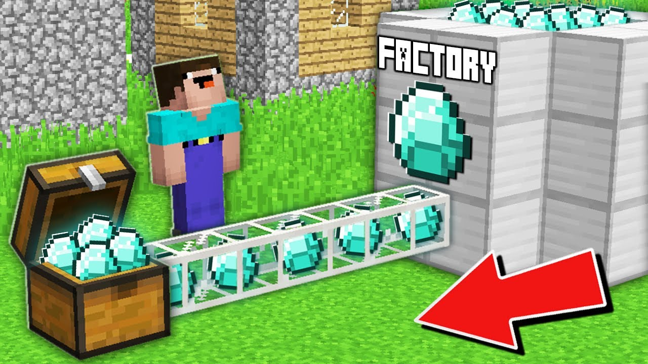 Minecraft NOOB vs PRO: WHY NOOB ROBBED THIS SUPER DIAMOND FACTORY IN VILLAGE Challenge 100% trolling