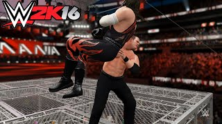 WWE 2K16-Kane vs Demon Kane - Hell In A Cell Match: Wrestlemania , WWE 2K16