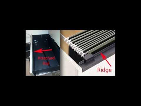 Choosing A File Bar File Rail For Hanging File Folders In Metal