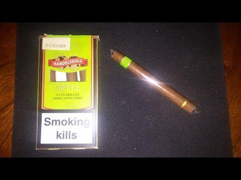 Handlesgold Apple Cigar Review (Face Cam)