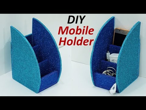 How to Make Mobile Stand from Cardboard | Cardboard DIY Mobile Holder | StylEnrich