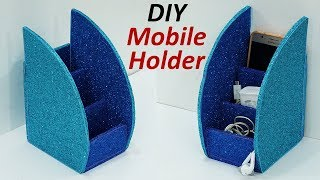 How to Make Mobile Stand from Cardboard   Cardboard DIY Mobile Holder   StylEnrich