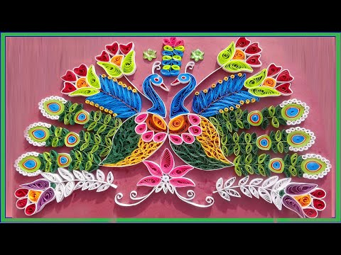 Paper quilling I Quilled peacock made easy