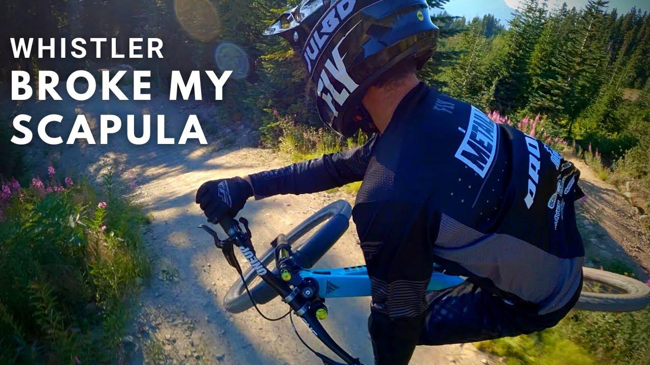 Crashed and broke my scapula in the Whistler Bike Park +  GoPro Hero 10