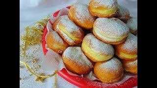 Пампушки з вишнями/ Пончики с вишней / Pączki z wiśniami