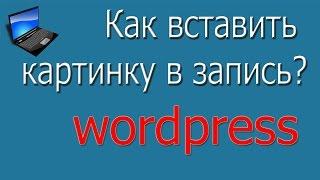 Как вставить картинку в запись. Видеоуроки по wordpress 4.5.2 версии.
