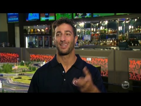"Daniel Ricciardo & his ""Ultimate F1 Track Layout""  Australian Tv Interview 22-9-2016"