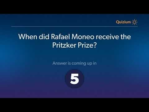When did Rafael Moneo receive the Pritzker Prize?   Rafael Moneo Quiz